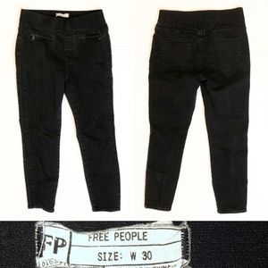 Free People Faded Black Pull On Jeggings Jeans